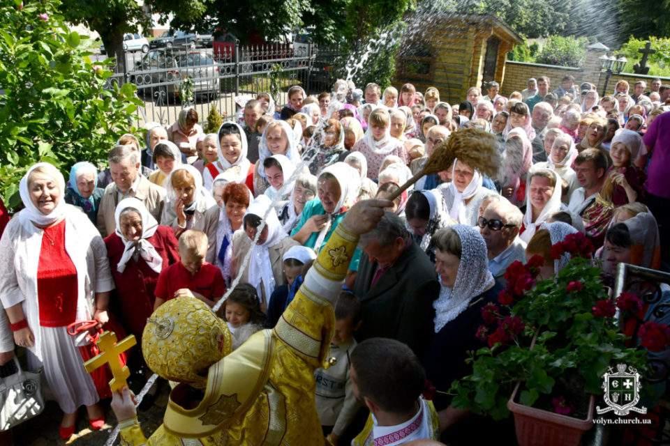 Престольне свято Петро-Павлівського храму Луцька. ФОТО